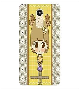 PrintDhaba Cute Doll D-4822 Back Case Cover for XIAOMI REDMI NOTE 3 (MEDIATEK) (Multi-Coloured)