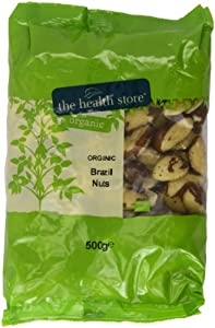 Health Store Organic Brazil Nuts 500 g (Pack of 2)