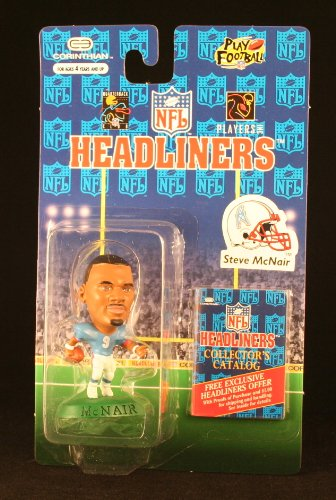 STEVE MCNAIR / HOUSTON OILERS * 3 INCH * 1996 NFL Headliners Football Collector Figure - 1
