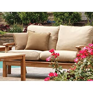 Monterey Deep Seating Loveseat with Cushions Fabric: Linen Taupe