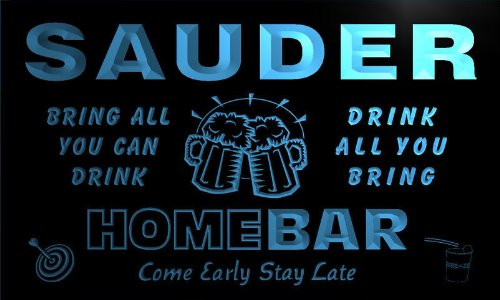 q39449-b-sauder-family-name-home-bar-beer-mug-cheers-neon-light-sign