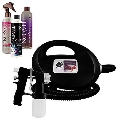 Fascination Spray Tanning Kit Machine Bundle with Norvell Venetian and ONE Spray Tan Solution and XLaTan (Black) (Spray Gun Tan compare prices)