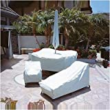 X-Large Square Table & Chair Cover with Velcro Closure & Ties Material