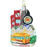 Kurt Adler C4106 San Francisco Glass Cityscape Ornament, 5-Inch
