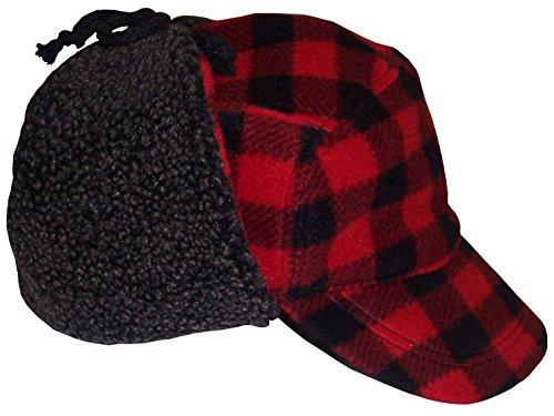 nice-caps-big-boys-and-teens-buffalo-plaid-elmer-fudd-hat-big-boys-xl-23-red-black-plaid