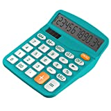 Calculator, Helect Standard Function Desktop Calculator (Blue) - H1001B
