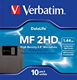 Verbatim MF2HD 3.5 Inch 1.44 MB Floppy Discs - 10 Pack
