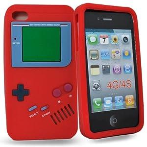 Accessory Master- Rouge ' Gameboy' la conception hard Housse pour iphone 4s