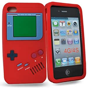 Accessory Master- Rouge ' Gameboy' la conception hard Housse pour iphone 4s