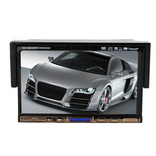 Ouku 7-Inch Single 1 DIN In-Dash Motorized Car DVD Player Touchscreen LCD Monitor with DVD/CD/USB/SD, AM/FM RDS Radio