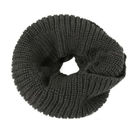 Allydrew Thick Knitted Winter Warm Infinity Scarf, Charcoal Grey