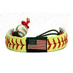 Buy American Flag Classic Softball Bracelet by GameWear