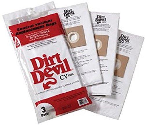 Dirt Devil Central Vacuum Cleaner HP, CV950,CV1500 Vacuum Bags 3 Pk Part # 7767-W, 9597 (Dirt Devil Vacuum With Bag compare prices)
