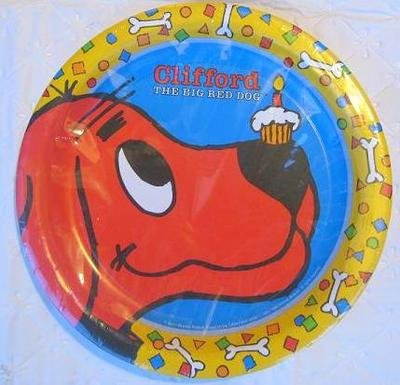 Clifford the Big Red Dog Lunch Plates (8 Count) (Clifford Party Supplies compare prices)