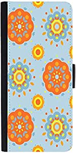 Snoogg Flower Pattern 2527 Designer Protective Phone Flip Case Cover For One Plus X