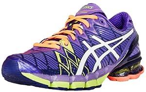 ASICS Women's Gel-Kinsei 5 Running Shoe,Ultra Marine/White/Purple,12 M US
