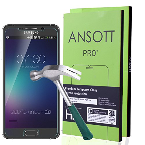 2-Pack-Galaxy-Note-5-Screen-Protector-ANSOTT-Premium-Tempered-Glass-026mm-Anti-scratchBubble-FreeExplosion-proof-Pressure-resistant-9h-Hardness-Screen-Protector-for-Samsung-Galaxy-Note-5