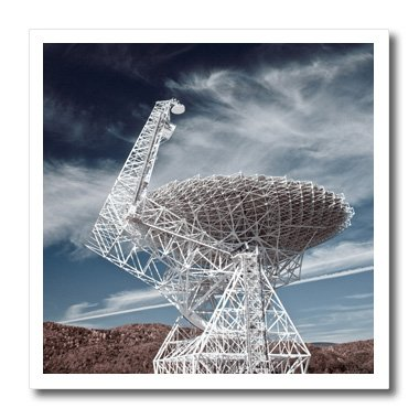 3Drose Ht_97091_2 Wv, National Radio Astronomy Observatory Telescope-Walter Bibikow-Iron On Heat Transfer For White Material, 6 By 6-Inch