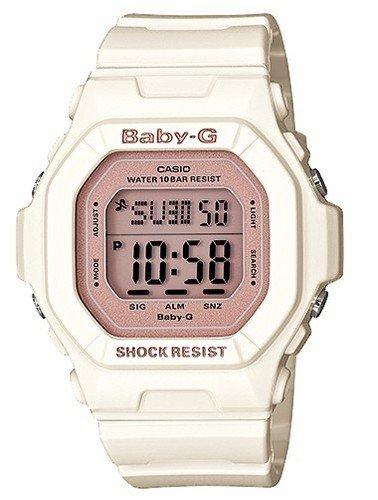 [CASIO] CASIO watch Casio CASIO baby-g baby G overseas model imports Shell Pink Colors シェルピンクカラーズ 10 ATM water resistant divers watch watch white / pink