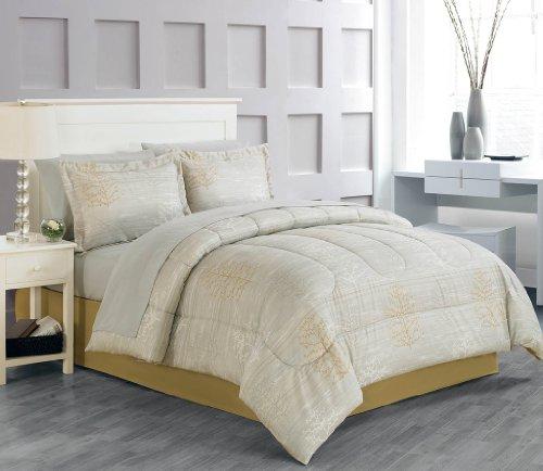 Luxury Home 8-Piece Beila Bed-In-Bag Set, Queen front-984464
