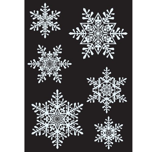 21 Large Snowflake Window Clings, Reusable Stickers -FREE Delivery-
