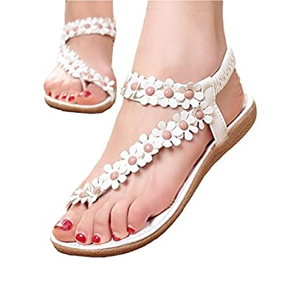 Partiss Women's Flower Flat Sandals