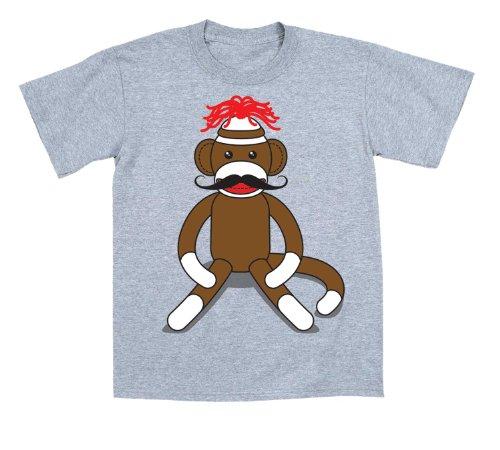Sock Monkey Moustache Funny Toddler T Shirt