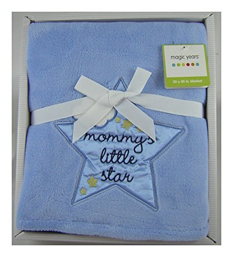 "Magic Years Mommy's Little Star - Blue Baby Blanket 30"" X 40"" - 1"