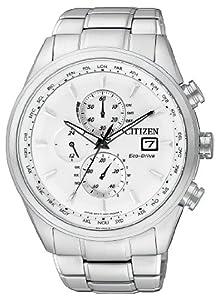 Citizen Herren-Armbanduhr XL Analog Quarz Edelstahl AT8011-55A