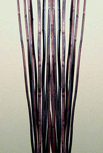 Green Floral Crafts Natural River Cane 4.5 Ft, Dark Brown, Pack of 15