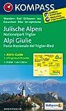 Julische Alpen - Alpi Giulie: Wanderkarte mit Aktiv Guide, alpinen Skirouten und Radrouten. GPS-genau. 1:25000