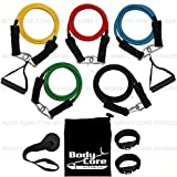 RESISTANCE BAND SET EXERCISE BANDS HOME FITNESS TRAVEL FITNESS WORKOUT FOR YOGA ABS BODY CORE PART OF THE PROTONE® BY BODYCOREFITNESS RANGE