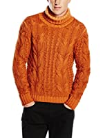 Cruciani Jersey Cuello Vuelto 100% Cachemira (Naranja)