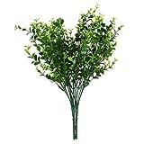 【ノーブランド品】プラスチック製 ホーム インテリア 人工観葉植物 人工植物 小葉 造花 人工ユーカリ草 2束