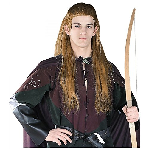 [GSG Legolas Wig Lord of the Rings Adult Long Wood Elf Halloween Costume Acsry] (Legolas Halloween Costume)