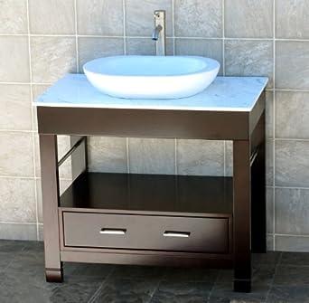 bathroom vanity 36 bathroom vanity cabinet white granite top sink