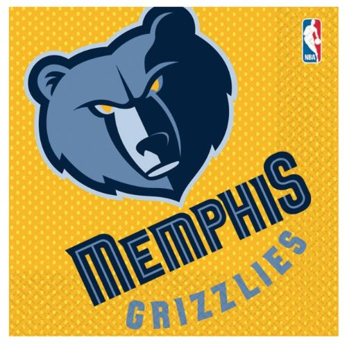 Amscan - Memphis Grizzlies Basketball - Lunch Napkins