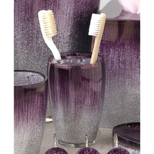 Stardust purple bath collection toothbrush holder - Purple bathroom accessories uk ...