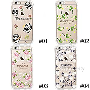 Generic 1 Pc Floral Soft TPU Drop Resistance Back Phone Case for iPhone 6/6 Plus # 28199(2#(iphone6 plus)