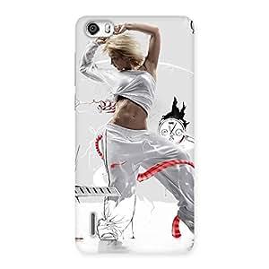 Impressive White Dance Red Ribbon Back Case Cover for Honor 6