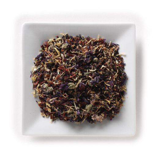 Mahamosa Herbal Flower Tea Blend And Tea Filter Set: 8 Oz Garden Special Herbal Tea, 100 Loose Leaf Tea Filters (Bundle- 2 Items)(Tea Ingredients: Marigold, Cornflowers, Hibiscus, Blue Mallow Blossoms, Safflowers, Rose Petals, Rose Hips, Tulsi (Holy Basil