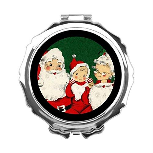 [Girls and Ladies Santa Mrs Claus Child Wears Santas Costume Mirrored Makeup Vanity] (Mrs Claus Costume Makeup)