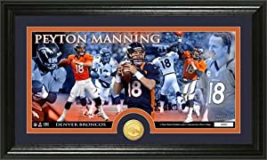 Peyton Manning Bronze Coin Panoramic Photo Mint from The Highland Mint by Highland Mint