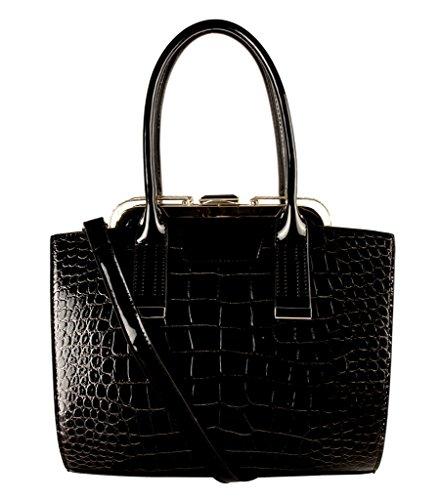 rimen-co-shiny-patent-pu-leather-animal-print-doctor-style-medium-tote-womens-purse-handbag-k5-3319