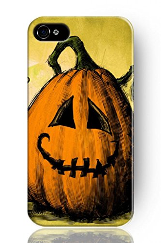 Sprawl New Classic Vintage Charming Design Personalized Hard Plastic Snap On Slim Fit Cartoon Pumpking Drawing 5 5S Iphone Case front-977000