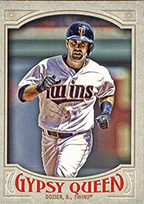 2016 Topps Gypsy Queen #121 Brian Dozier Minnesota Twins Baseball Card in Protective Screwdown Display Case