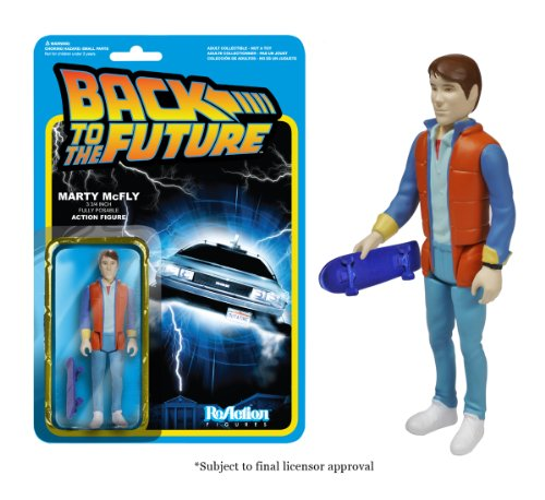 Back to the Future Marty McFly ReAction 3 3 4-Inch Retro Action Figure