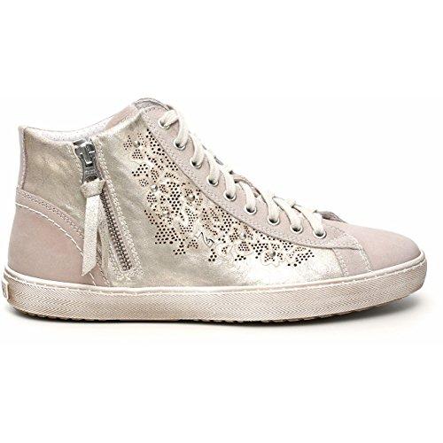 Nero Giardini Sneaker Alta Donna in Pelle P512270D (39, Nepal Sabbia)