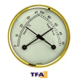 TFA TFA KLIMATHERM Thermo hygrometer with brass bezel