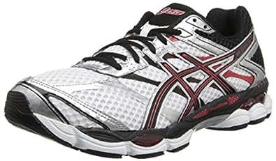 ASICS Men's Gel-Cumulus 16 2E Running Shoe,White/Black/Red,7 2E US
